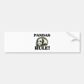 ¡Regla de las PANDAS! Etiqueta De Parachoque