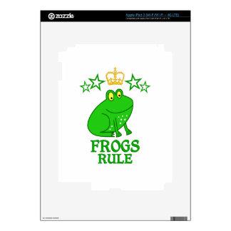 Regla de las ranas pegatinas skins para iPad 3