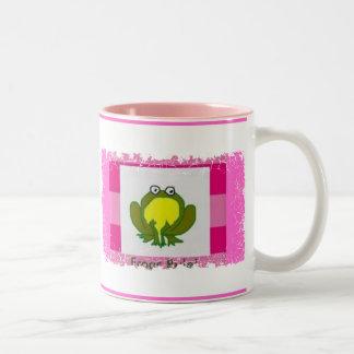 ¡Regla de las ranas! (rosa) Taza De Café De Dos Colores