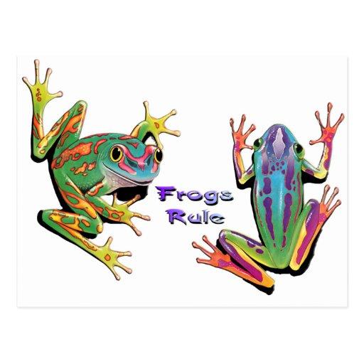 Regla de las ranas postal