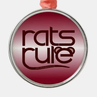 ¡Regla de las ratas! Adorno Navideño Redondo De Metal