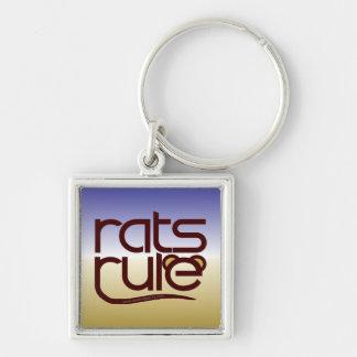 ¡Regla de las ratas Llavero