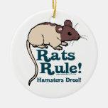 ¡Regla de las ratas! Ornamentos De Navidad