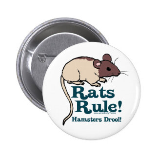 ¡Regla de las ratas! Pin Redondo De 2 Pulgadas