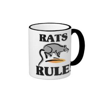 ¡Regla de las RATAS! Taza De Café