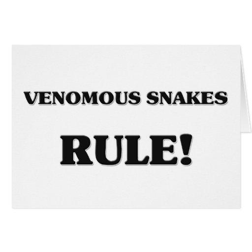Regla de las serpientes venenosas felicitacion