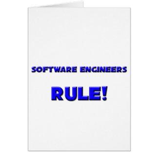 ¡Regla de las Software Engineers! Tarjeta De Felicitación