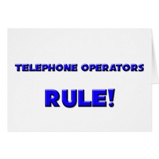 ¡Regla de las telefonistas! Tarjeta De Felicitación