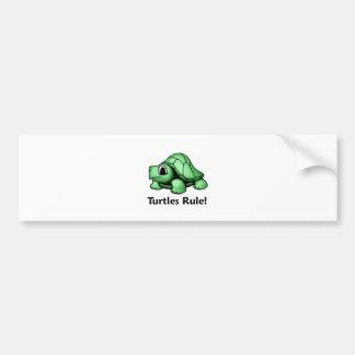 ¡Regla de las tortugas! Pegatina Para Auto