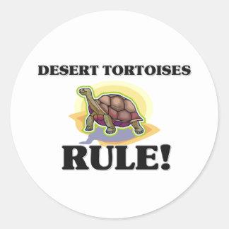¡Regla de las TORTUGAS de DESIERTO! Pegatina Redonda