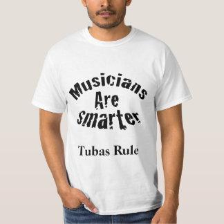 Regla de las tubas del regalo del músico de la playera
