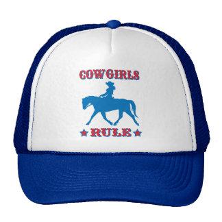 Regla de las vaqueras (roja/azul) gorras