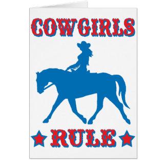 Regla de las vaqueras (roja/azul) felicitaciones
