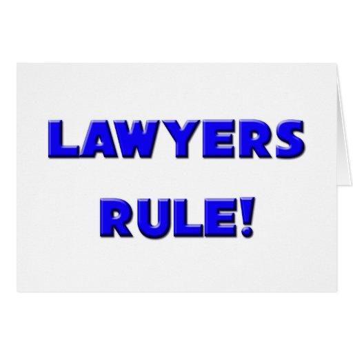 ¡Regla de los abogados! Felicitación