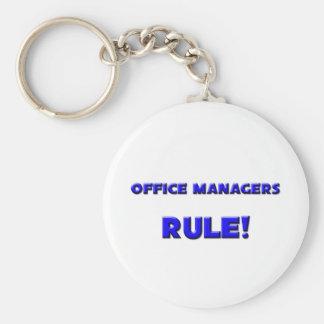 ¡Regla de los administradores de oficinas! Llavero Redondo Tipo Pin