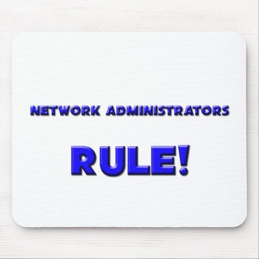 ¡Regla de los administradores de red! Tapete De Ratones