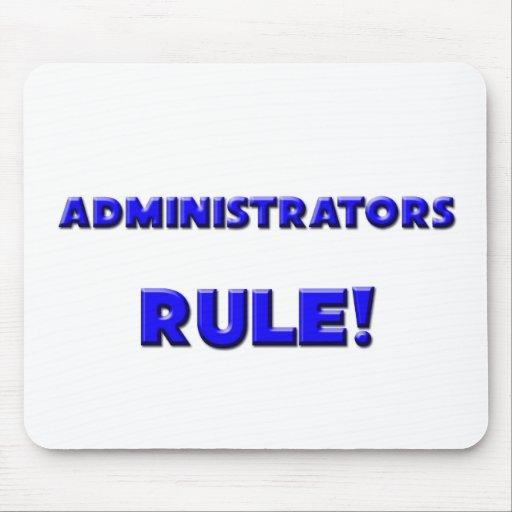 ¡Regla de los administradores! Tapetes De Raton