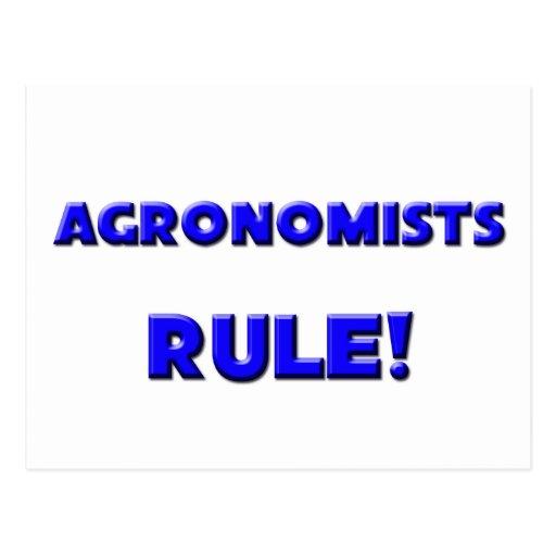 ¡Regla de los agrónomos! Tarjeta Postal