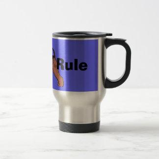 Regla de los Airedales Taza De Café