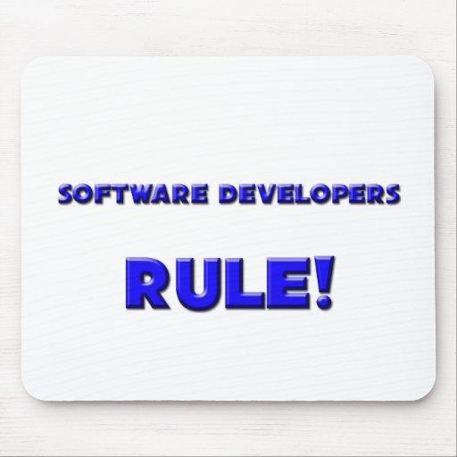 ¡Regla de los analistas de programas informáticos! Tapete De Ratón