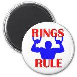 Regla de los anillos iman para frigorífico