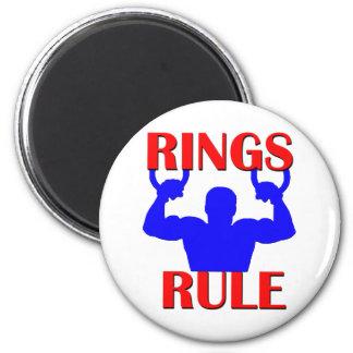 Regla de los anillos imán redondo 5 cm