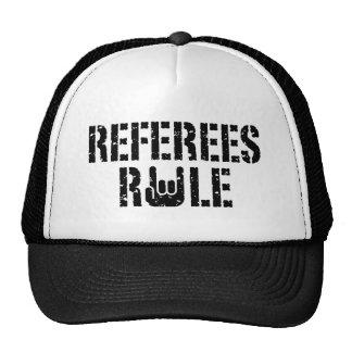 Regla de los árbitros gorros bordados