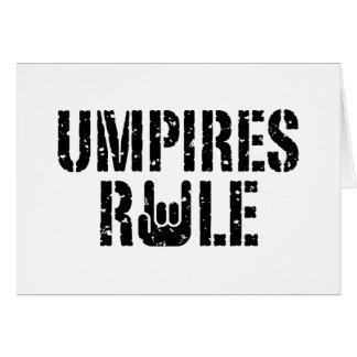 Regla de los árbitros tarjeta