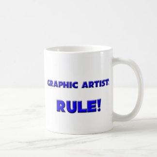 ¡Regla de los artistas gráficos Tazas De Café