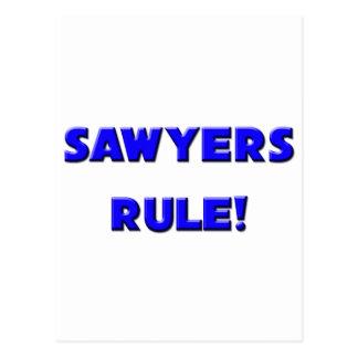 ¡Regla de los aserradores! Postal