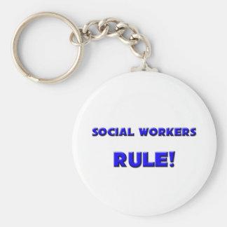 ¡Regla de los asistentes sociales! Llaveros Personalizados