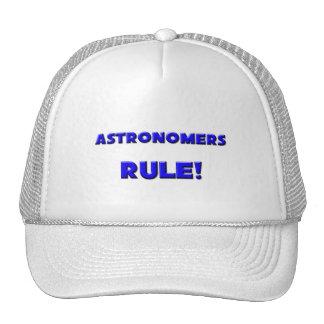 ¡Regla de los astrónomos! Gorros