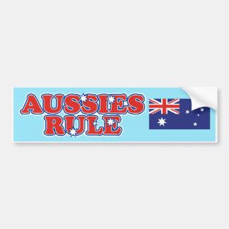 Regla de los australianos pegatina para auto