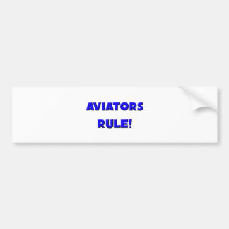 ¡Regla de los aviadores! Pegatina Para Auto