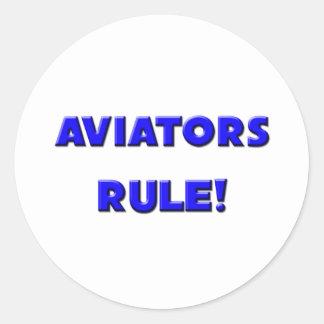 ¡Regla de los aviadores! Pegatina Redonda