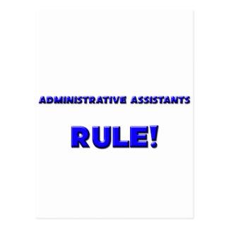 ¡Regla de los ayudantes administrativos! Postales