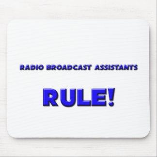 ¡Regla de los ayudantes de la emisión de radio! Tapete De Raton