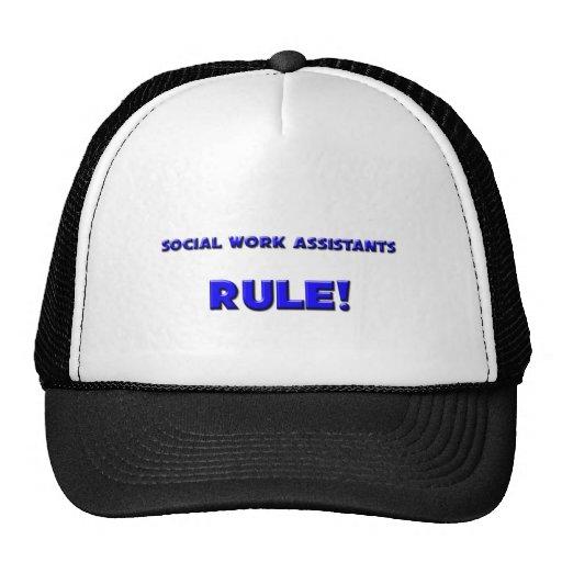 ¡Regla de los ayudantes del trabajo social! Gorro De Camionero