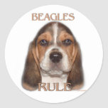 ¡Regla de los beagles! Etiqueta Redonda
