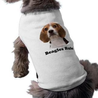 Regla de los beagles playera sin mangas para perro