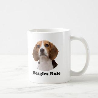 Regla de los beagles taza básica blanca