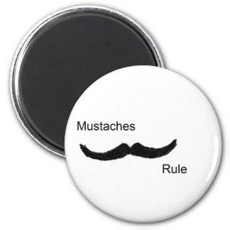Regla de los bigotes imán redondo 5 cm