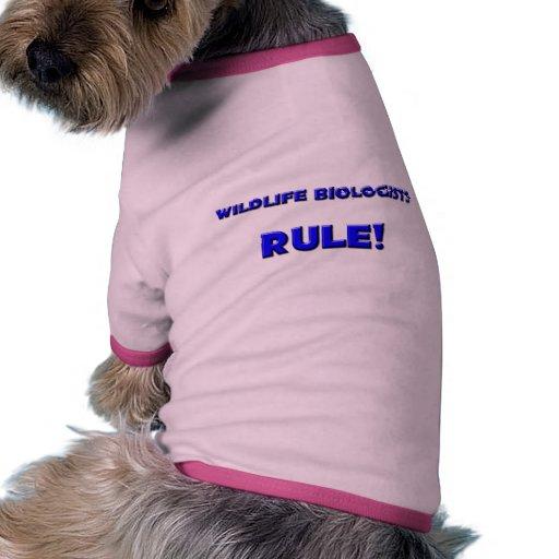 ¡Regla de los biólogos de la fauna! Prenda Mascota