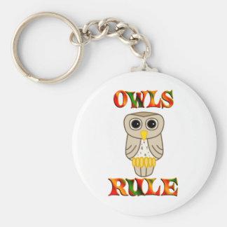 Regla de los búhos llavero personalizado