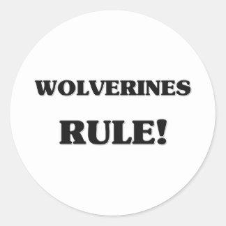 Regla de los carcayúes pegatina redonda