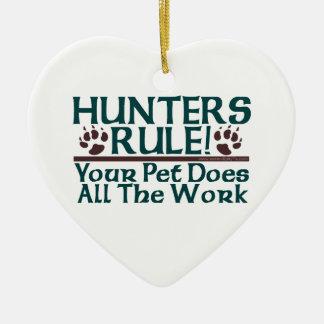 ¡Regla de los cazadores! Adorno De Cerámica En Forma De Corazón