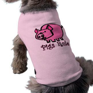 Regla de los cerdos camisas de perritos