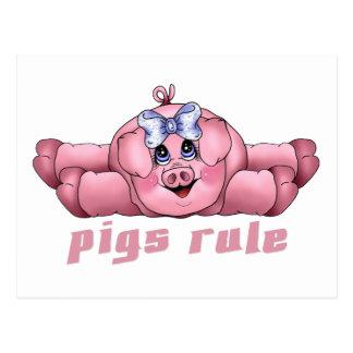 Regla de los cerdos tarjetas postales