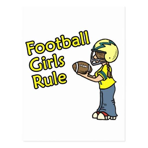 ¡Regla de los chicas del fútbol! Postal