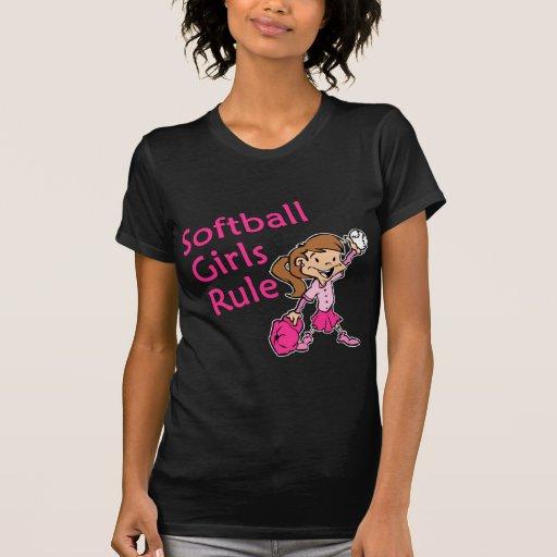 regla de los chicas del softball camiseta